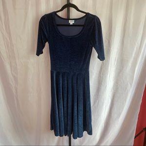 LuLaRoe Elegant Nicole Crushed Velvet Dress, Small